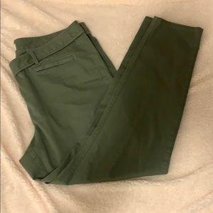 Loft olive green pants size 18